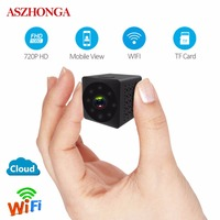 720P HD Video Monitor Wireless Mini WIFI No Light Night Vision Smart Home Security IP Camera Monitor Sound Motion Detection Cam