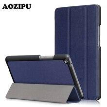 """Ultra Slim Case para HUAWEI MediaPad T3 10.0 (9.6 """"), AOZIPU Trifold Cuero de LA PU Peso Ligero Inteligente imán Cubierta Del Soporte de Protección"""