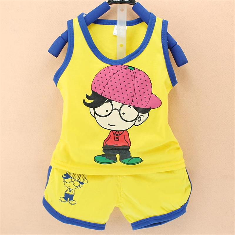 baby boy clothes suit cotton summer Child wearing a hat kids clothing set vest Tong Kit 0-2years clothing set baby clothing boy 2pcs set baby clothes set boy