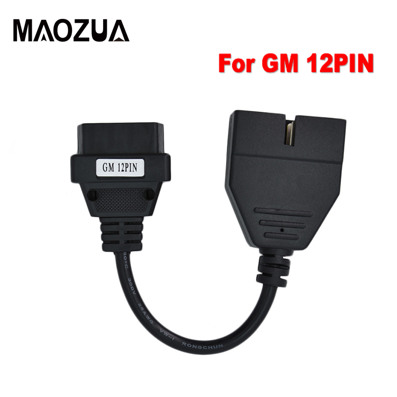 Maozua OBDII OBD 2 Connector Adapter For G-M 12 Pin To 16 Pin Auto OBD2 Diagnostic Cable For Daewoo For Matiz 12 PIN