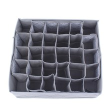 Non-woven Fabric Foldable Underwear Socks Drawer Organizer Storage Box Useful 30 Cells Container Boxs