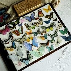 80 sztuk motyl ilustracja Vellum papierowe naklejki dla scrapbookingu szczęśliwy planner/tworzenie kartek/pisanie pamiętnika
