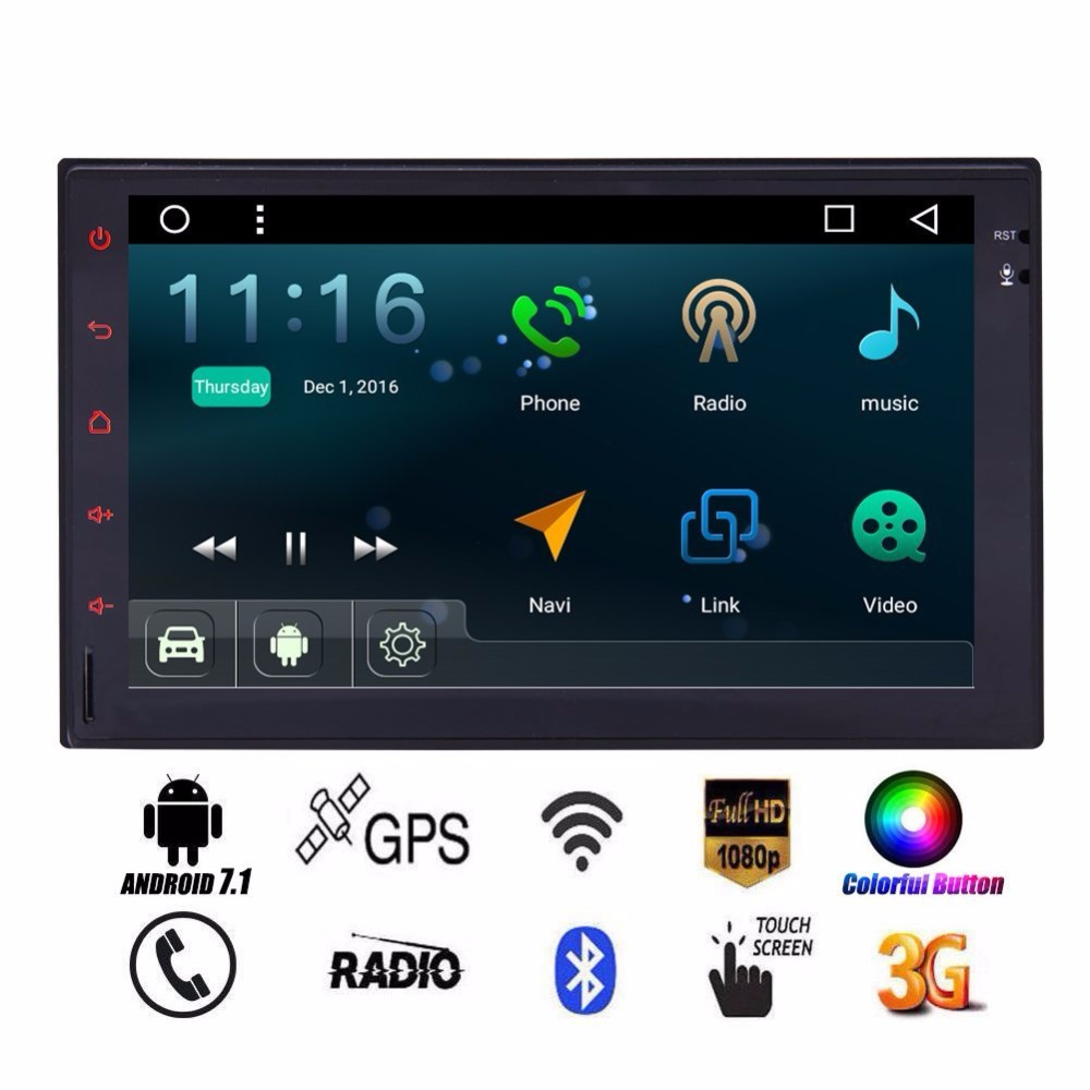 Android Touch Screen Car Stereo 2 Din Radio Video Player Bluetooth WiFi GPS Navigation support Car LOGO 1080P OBD2 Camera Input free wireless rear camera 2 din android 6 0 car stereo head unit touch screen car pc support bluetooth fm 1080p video 3g 4g wifi