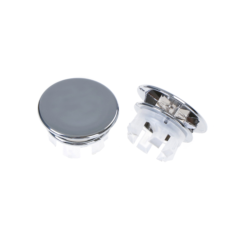 2pcs/lot Basin Sink Round Overflow Cover Ring Insert Replacement Tidy Chrome Trim Bathroom Accessories(China)