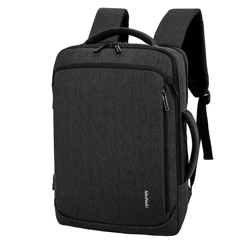 Hommes sac à dos pour ordinateur portable oxford USB charge 15.6 pouces mâle noir affaires sacs étanche multifonctionnel voyage sac à dos pour hommes