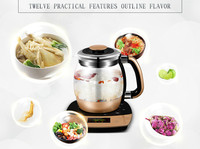 Fully automatic  thickened glass multi-function electric heating kettle flower pot boiling tea ware Anti-dry Protection