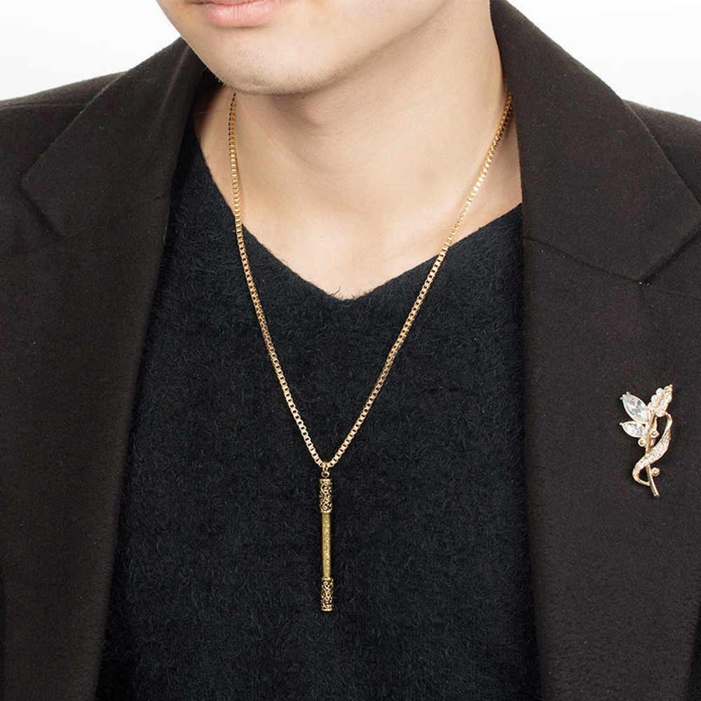 2019 moda Punk list stop wisiorek naszyjnik złoty srebrny łańcuch Choker naszyjnik kobiety mężczyźni biżuteria prezent 2545 #2