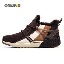 ONEMIX New Winter Men Boots Warm Wool Sneakers Running Shoes Sales Outdoor Women Athletic Sport Shoe Men's Comfortable