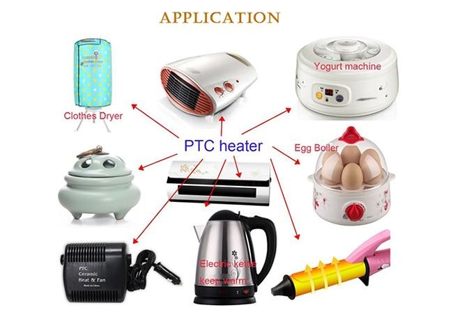 220 Вт В 2000 в постоянная температура изолированный PTC керамический нагреватель воздуха 280*76 мм