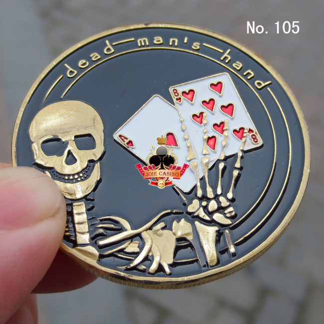 Metal for Pressing Poker Cards Guard Protector No.105 dead mens hand  Poker Chips Souvenir Coins