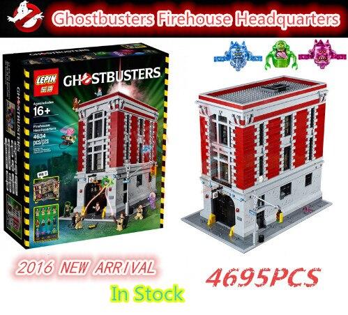 2016 New LEPIN 16001 4695Pcs Ghostbusters Firehouse Headquarters Model font b Building b font Kits Model