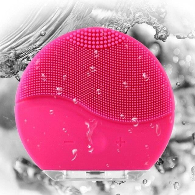 Cepillo de limpieza Facial eléctrico de la piel de la Vibración elimina el limpiador de poros de la cabeza negra masajeador Facial de silicona impermeable