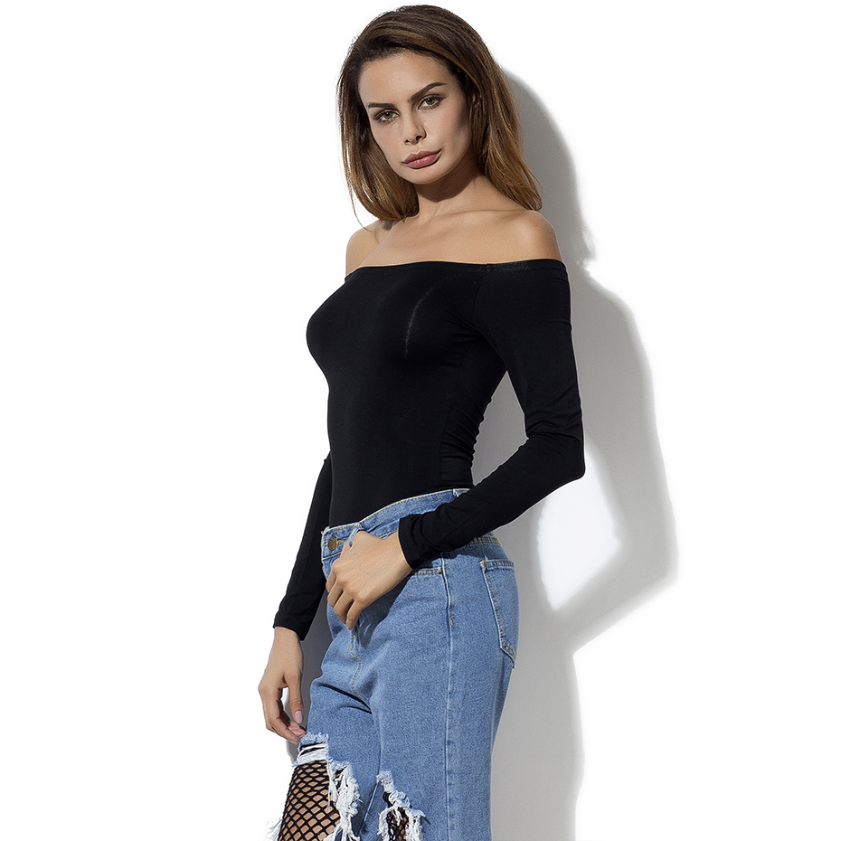 HTB1RnK1RXXXXXXsapXXq6xXFXXXC - Off Shoulder Tops Women New Arrivals Long Sleeve Cotton T shirt Women Casual Slim Fit Female T-shirt Sexy Tee Shirts Black
