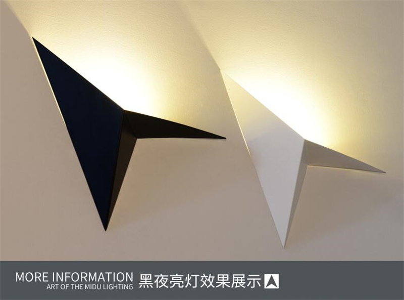 new creative design wall lamp ac90 260v 5w led wall light modern home hotel restaurant
