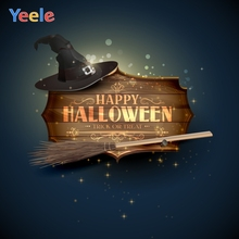 Yeele Halloween Photocall Hat Wood Bokeh Lights Photography Backdrops Personalized Photographic Backgrounds For Photo Studio