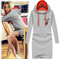 2016 NEW Arrival Plus Size Spring Style Women Long Hoodies & Sweatshirt Novelty and Fashion Sweatershirt For Ladies  A616