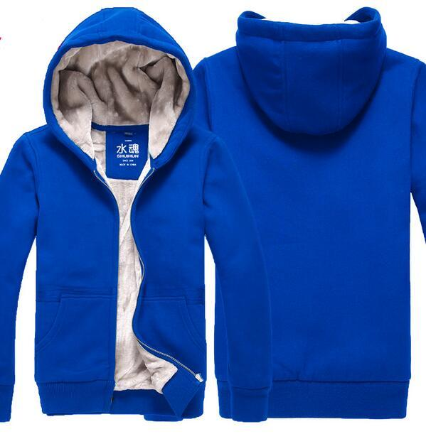 461b913bb Fashion Men and women Winter Coat Hoodie Zip-up Hoodies Coat thick plush  Jacket High quality Sweatshirt