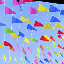 100m Wedding Festival Pennant String Banner Buntings Colorful Flag For Festival Party Holiday Decoration Christmas Strap цена
