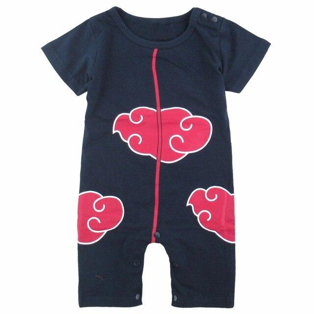 95958c7b2596 Newborn Baby Boy Hatake Kakashi Costume Romper Uzumaki Naruto Akatsuki Infant  Playsuit 0-24 Months