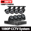 HKIXDISTE 8 Channel Home HD 2MP Security Camera System AHD 1080P Video Surveillance Infrared Bullet 8CH