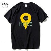 HanHent GPS Positioning Men's   T  -  shirts   Creative Cotton Funny Tshirt Boys Short Sleeve Summer Tee   shirts   Geeks   T     shirts   Men