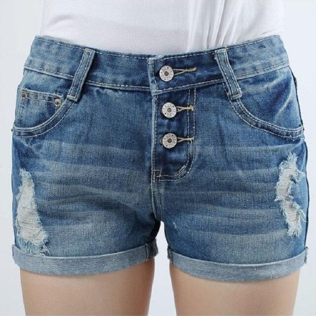 New Large Plus Big Size Women's Denim Shorts/Fashion Ladies Short Jeans / XS ~ 4XL ~ 9XL Summer Promotion Low Waist