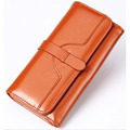Hot Promotion! Fashion Women Wallets Long Design Lady Clutch Bags Brand High Quality Oil Wax Leather Business Handbag Coin Purse