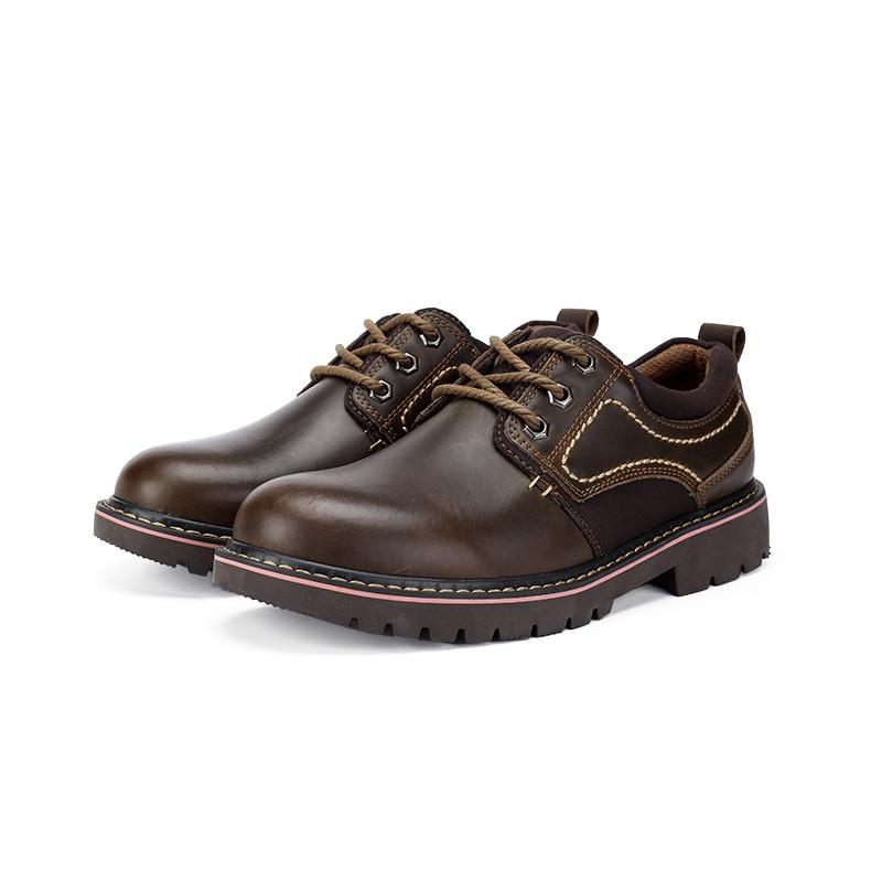 D' Couro brown Vintage Ferramental De Grande Charmix Clássico Marca Prova Trabalho Homens Up Black Do À Calçados Genuíno Sapatos Água Tamanho Dos Lace CBZBqYx