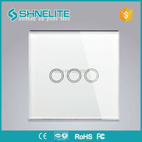 Switch UK Standard White Black Color Smart House Lamp Wall Power Switch For Livolo Home Automation