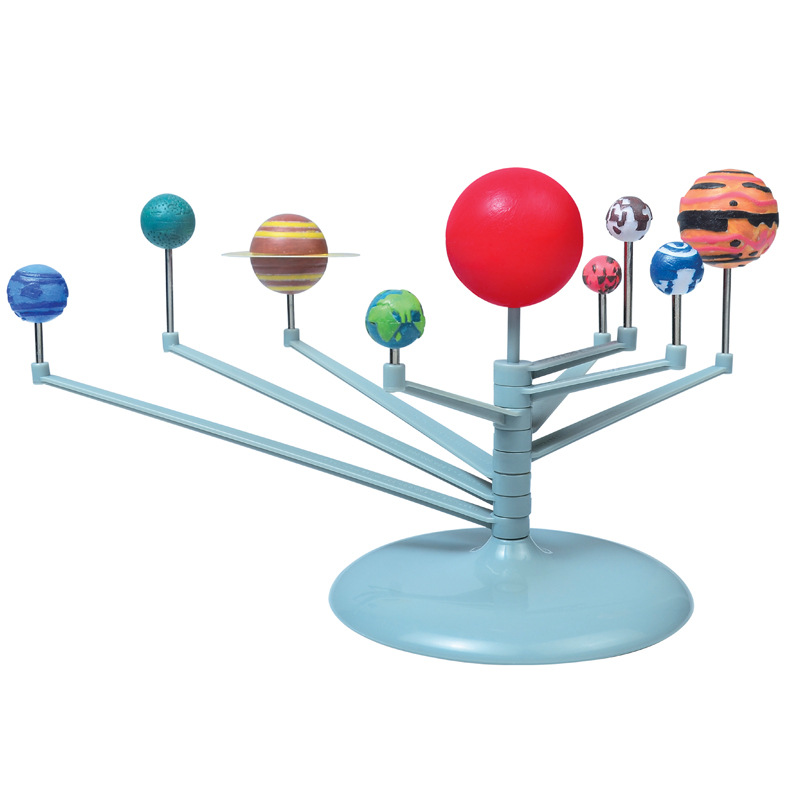 Solar System Model Nine Planets Kit Astronomy Painting Model Science Planetarium Educational Toys For Child Universe Toy