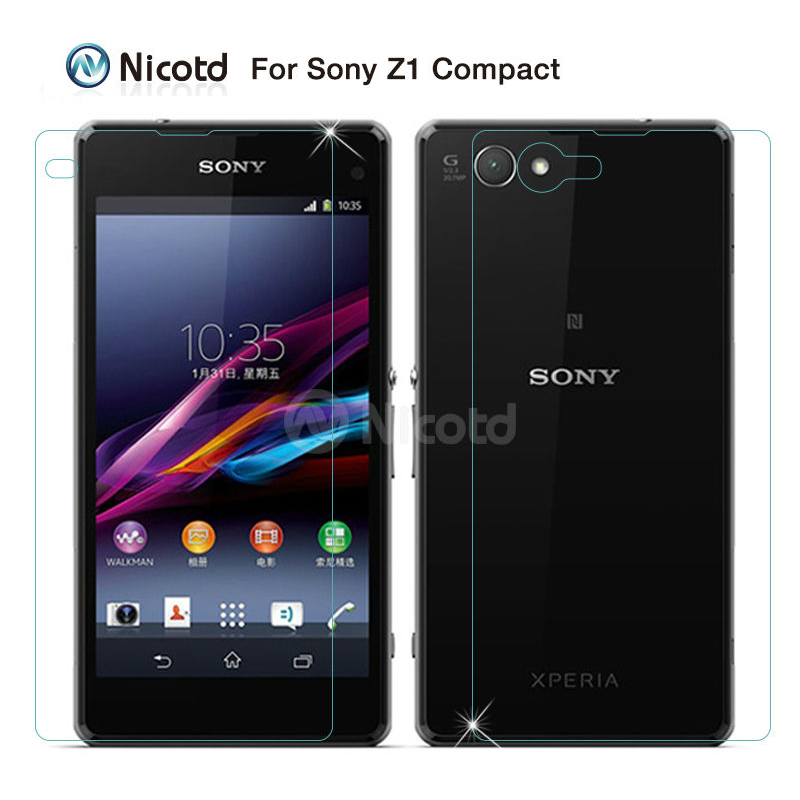 2PCS/Lot 9H  0.3MM 2.5D Front+Rear Tempered Glass film  For Sony Xperia Z1 Mini Z1 Compact M51W D5503 Screen Protector2PCS/Lot 9H  0.3MM 2.5D Front+Rear Tempered Glass film  For Sony Xperia Z1 Mini Z1 Compact M51W D5503 Screen Protector