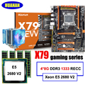 New arrival HUANAN X79 LGA2011 deluxe motherboard set Xeon E5 2680 V2 RAM 32G(4*8G) DDR3 1333MHz RECC with CPU cooler all tested