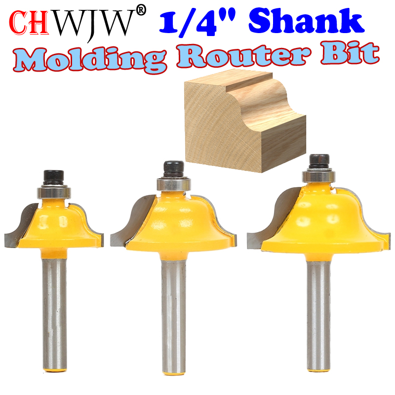 1pc 1/4 Shank High Quality Roman Ogee Edging and Molding Router Bit Wood Cutting Tool woodworking router bits Chwjw - 13180q 1pc 1 4 shank high quality roman ogee edging and molding router bit wood cutting tool woodworking router bits chwjw 13180q