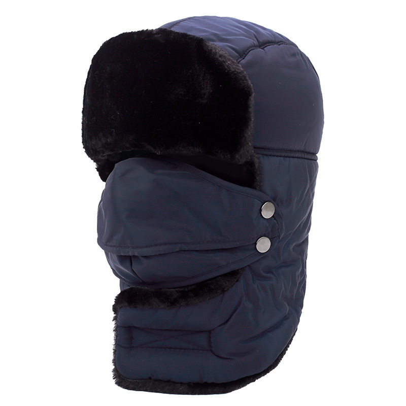 High Quality Winter Bomber Hats Men Women Thickening Fur Earflap Heating Plain Snow Cap Russian Plush Ski Hat Cap for Unisex