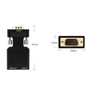 Image 5 - Adaptador VGA macho a HDMI hembra con salida de Audio de 3,5mm Cable HDTV de 1080P convertidor AV para PC Notebook proyector Monitor