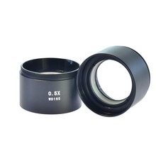 Best price Professional SZM 2X+0.5X WD30mm Auxiliary Objective Lens for Stereo Microscope Accessory Fitting Components Micro Objective Lens