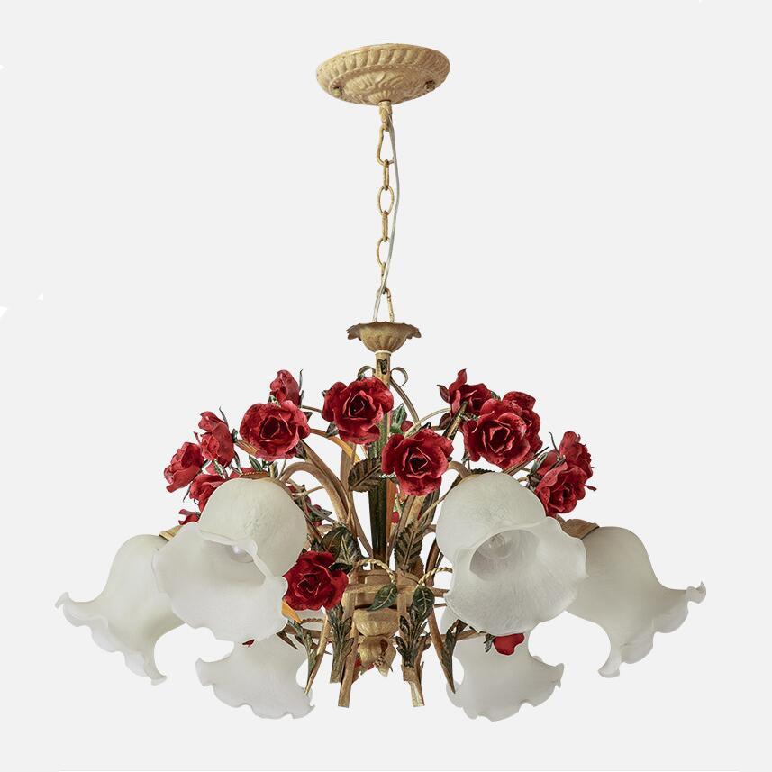 Vintage Handmade Metal Rose Pendant Light Kit Chain Pastism Led Edison Bulb Lamp Hardware Hanging Home Decoration In Lights From