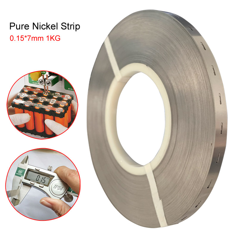 Pure Nickel Strip Tape Pure Nickel Plate Compatible For 18650 Lithium Battery Spot Welder Machine Pure Nickel Belt 0.15 x7mm 1kg