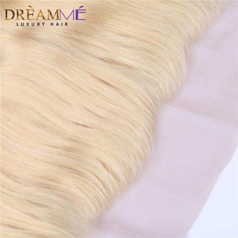 Dreamme Hair # 613 Barva las čelnih čelnih zaprtja Brazilski - Človeški lasje (za črne) - Fotografija 5