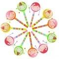 Sorriso Rosto Rattle Tambor de Mão Dos Desenhos Animados Sino Brinquedos Instrumento Musical Chocalho Tambor Girar Brinquedos Para Brinquedos Do Chocalho Do Bebê Para Crianças