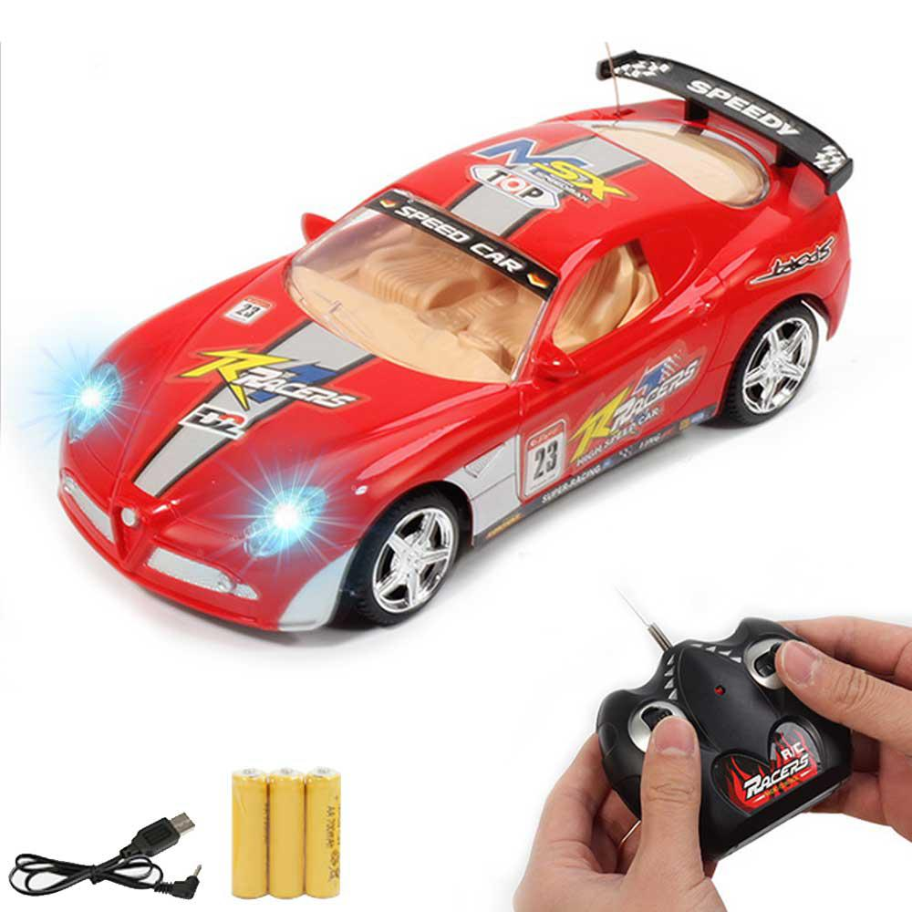 Image 4 - Children RC Racing Car Rechargeable Radio Remote Control Simulation Car with Light Model Toy Vehicle for Kids-in RC Cars from Toys & Hobbies