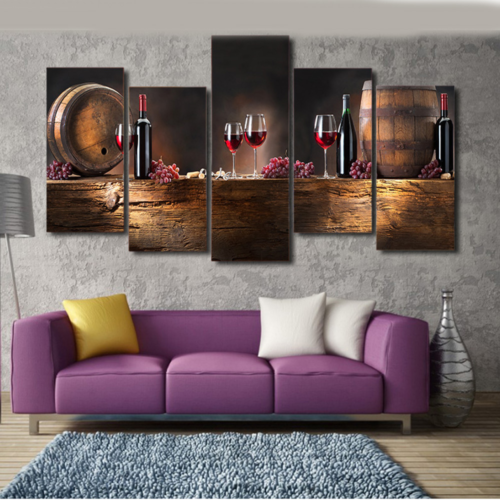 Living Room Canvas Paintings Red Canvas Paintings Promotion Shop For Promotional Red Canvas