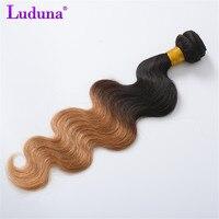 Luduna Brazilian Body Wave Ombre Hair Bundles 100 Human Hair Weave 1B 27 Color 2 Tone