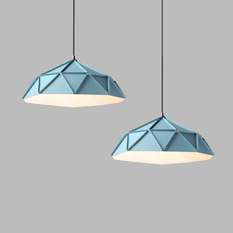 Loft American country warm Matt blue iron pendant light  clothing shop bar sushi shop  decorative hanging lightingLoft American country warm Matt blue iron pendant light  clothing shop bar sushi shop  decorative hanging lighting