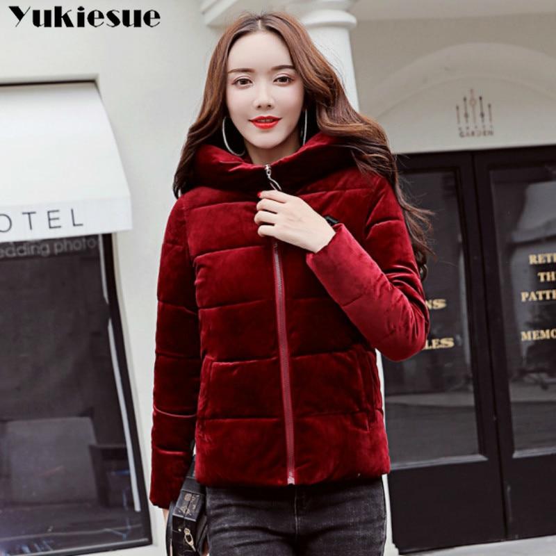 Short Winter Jacket Women Hooded Warm Jackets Coat Female velvet Plus Thick Outwear Winter Coat Women Ladies   Parkas   Pink Color