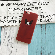 Cute dog & cat pocket love phone case / cover for iPhone 7