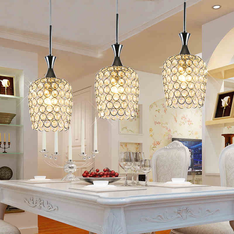 Crystal chandelier lamparas colgantes led lamp lamparas for dining room living room study - Como hacer lamparas de techo ...
