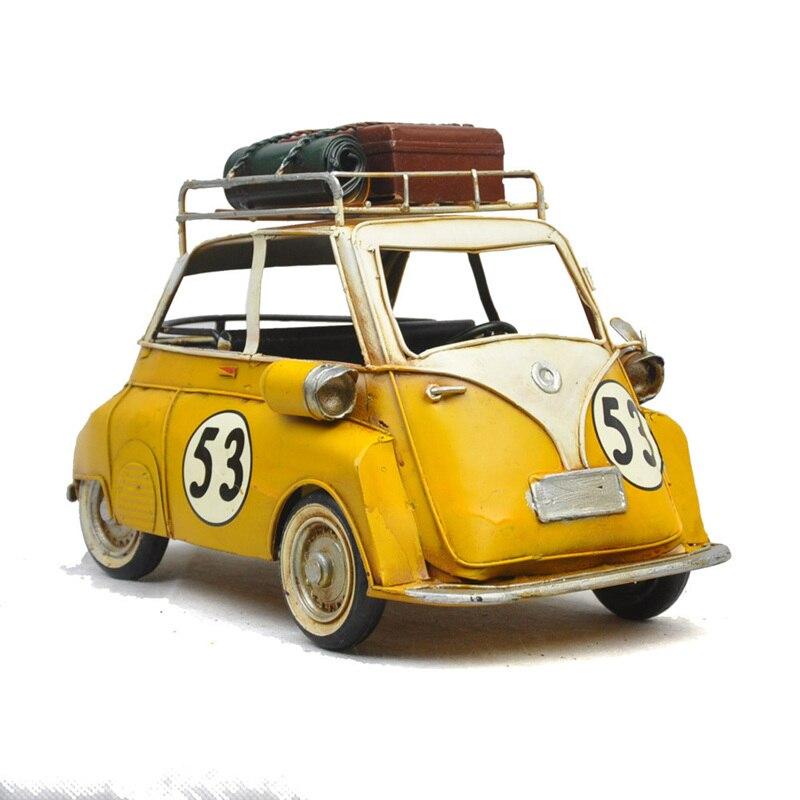 Mini Car Wallpaper: Vintage Style Metro Miniature Yellow Car #53 With Metal