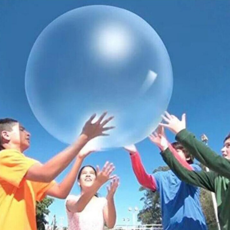 Balloon Toy Balls Kid Transparent Bounce Colored Round Balloons For Decorations For Children's Outdoor Activities Random Color