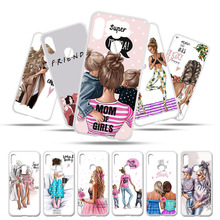 Phone Case for UMIDIGI F1 UMI DIGI Play Cover Cases Umidigi Bags Black Brown Hair Baby Mom Girl Queen Customer Bumper
